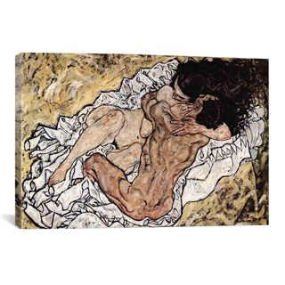 iCanvas Egon Schiele 'The Embrace (The Loving)' Canvas Print Wall Art