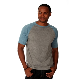 Oxymoron Men's Grey Cotton Raglan T-shirt