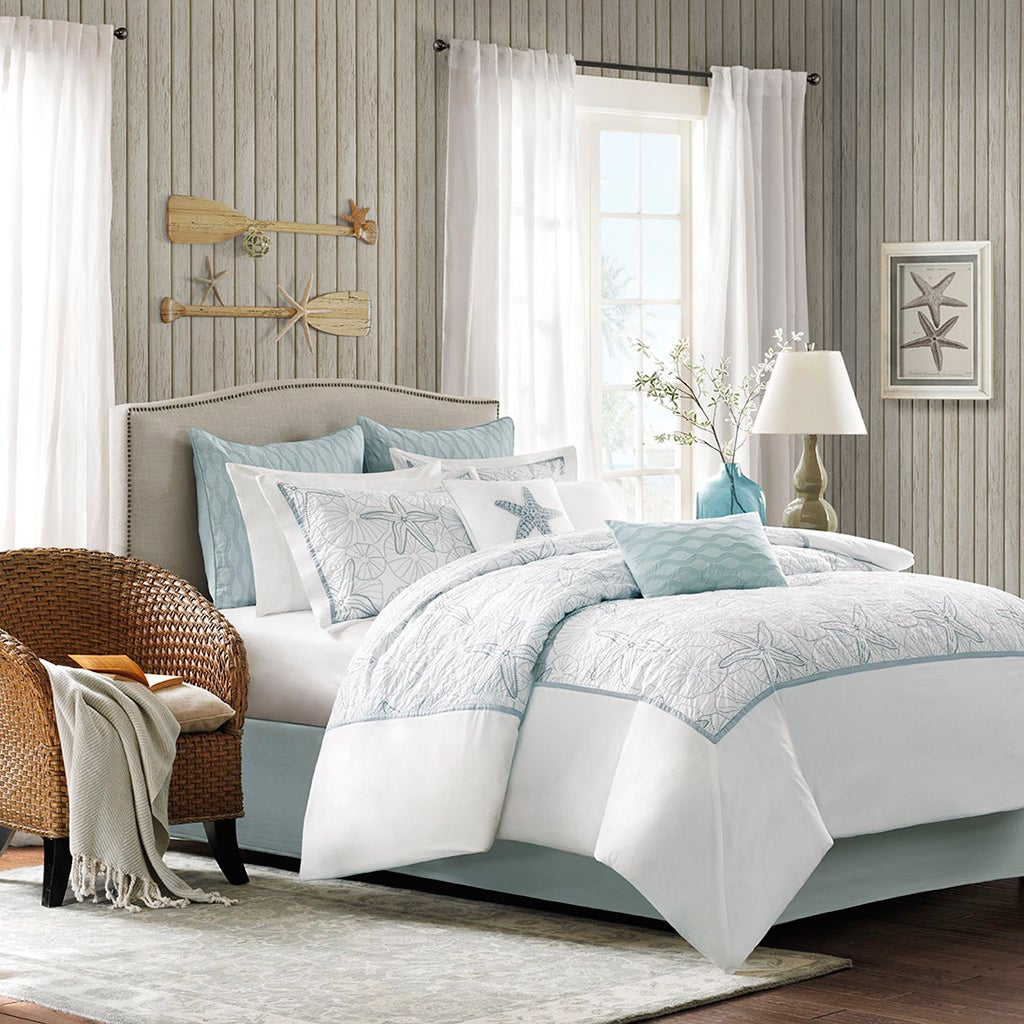 Harbor House Maya Bay White Cotton Comforter Set On Sale Overstock 9465619