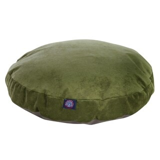 Majestic Pet Grey Villa Collection Round Large/ Extra Large Dog Bed with Removable Washable Cover