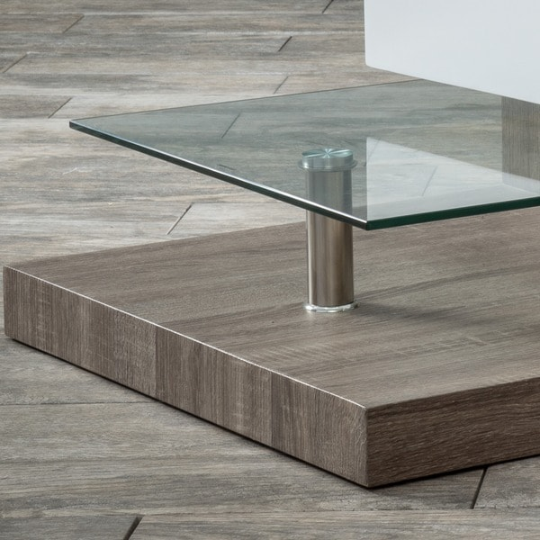 Small Rectangular Mod Coffee Table With Glass By Christopher Knight Home Free Shipping Today Overstock Com 16649042