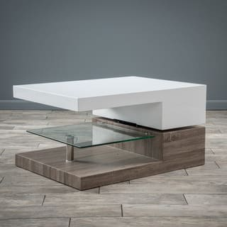 Small Rectangular Mod Coffee Table with Glass by Christopher Knight Home|https://ak1.ostkcdn.com/images/products/9465631/P16649042.jpg?impolicy=medium