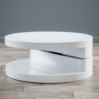 Large Circular Mod Rotatable Coffee Table By Christopher Knight Home