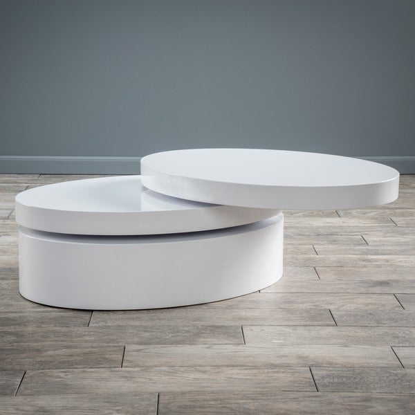 Good Small Oval Mod Rotatable Coffee Table By Christopher Knight Home