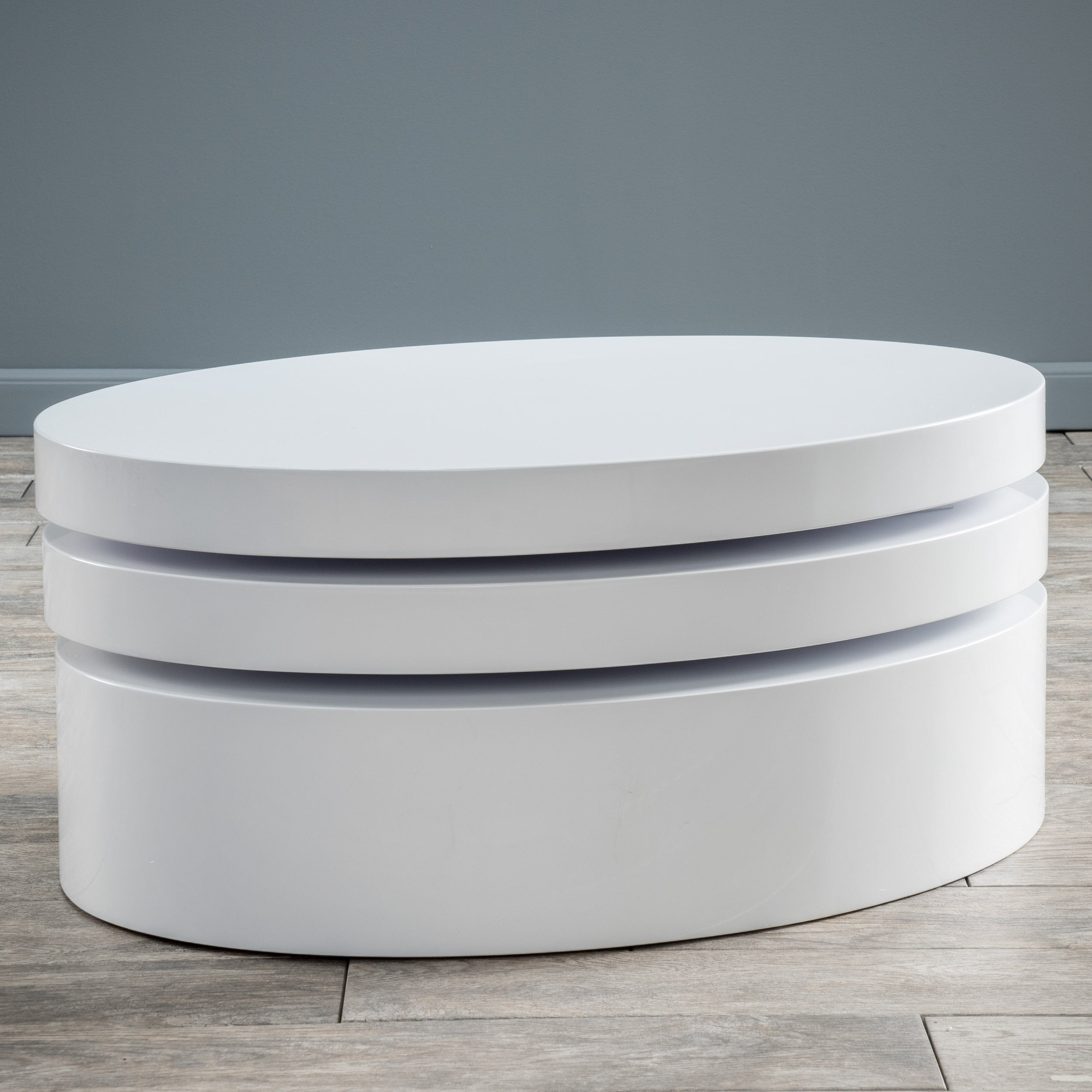 Small Oval Mod Rotatable Coffee Table By Christopher Knight Home On Sale Overstock 9465639