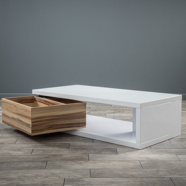Rectangular Mod Rotatable Coffee Table By Christopher Knight Home   Free  Shipping Today   Overstock.com   16649045