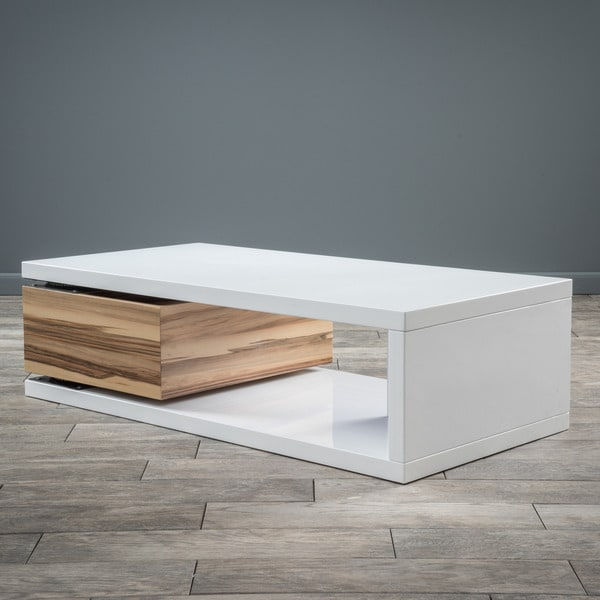 Elegant Rectangular Mod Rotatable Coffee Table By Christopher Knight Home