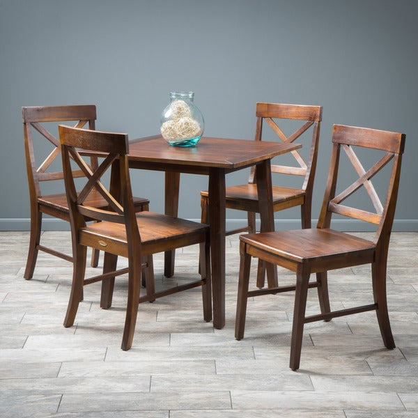 Carridge 5-piece Square Wood Dining Set by Christopher Knight Home