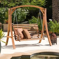 Christopher Knight Home Tulip Outdoor Wood Swinging Loveseat