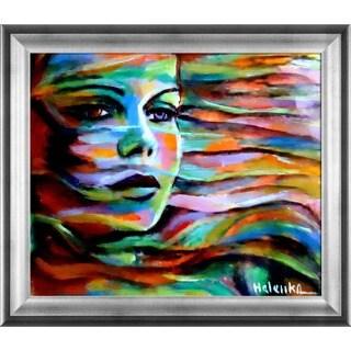 Helena Wierzbicki 'Sheltered by the wind' Framed Fine Art Print