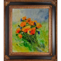 Pol Ledent 'Poppies 671523' Framed Fine Art Print