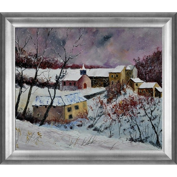 Pol Ledent 'Snow in Houroy 67' Framed Fine Art Print