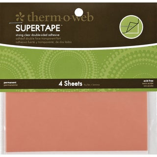 "Super Tape Double-Sided Sheets 4/Pkg-5.5""X4.5"""