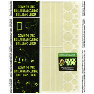 "Glow In The Dark Duck Tape Sheets 8.5""X10"" 1/Pkg-Stripes & Circles"