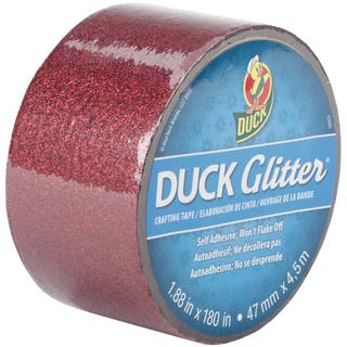 "Glitter Duck Tape 1.88""X180""-Red Sparkle