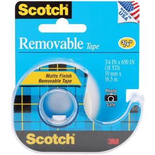 "Scotch Removable Tape Matte-.75""X650""