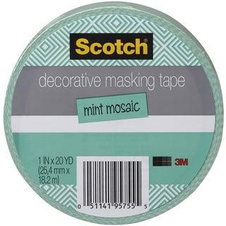 """Scotch Decorative Masking Tape 1""""X20yd-Mint Mosaic"""