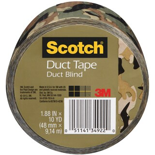 "Scotch Printed Duct Tape 1.88""X10yd-Camo"