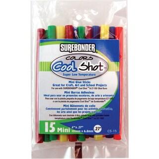 """Super Low Temp Cool Shot Mini Glue Sticks-.27""""X4"""" 15/Pkg"""