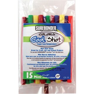 "Super Low Temp Cool Shot Mini Glue Sticks-.27""X4"" 15/Pkg"