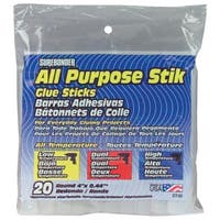 "All Purpose Stik Glue Sticks-7/16""X4"" 20/Pkg"