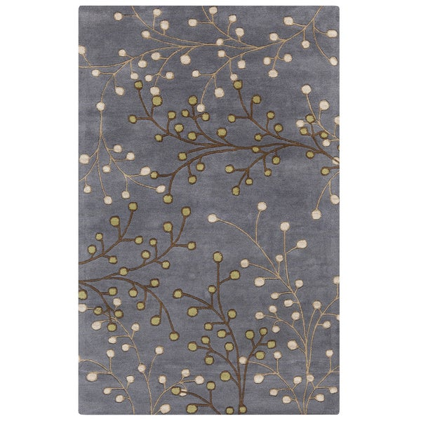 Hand-tufted Sakura Branch Floral Wool Area Rug (6' x 9') - 6' x 9'