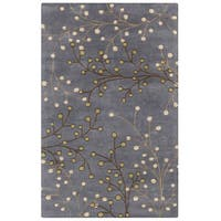 Hand-tufted Sakura Branch Floral Wool Area Rug - 6' x 9'