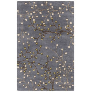 Hand-tufted Sakura Branch Floral Wool Area Rug - 6' x 9' (More options available)