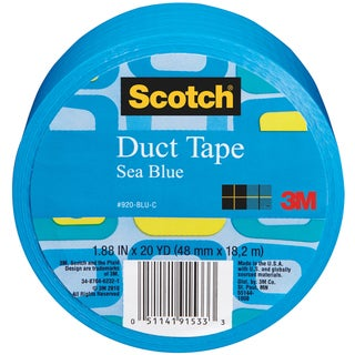 Scotch Solid Color Duct Tape 1.88:x20yd-Sea Blue