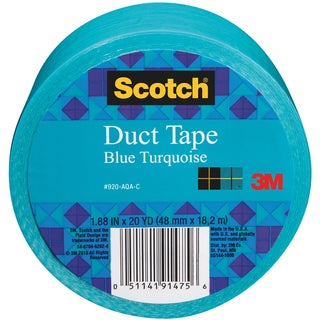 Scotch Solid Color Duct Tape 1.88:x20yd-Turquoise