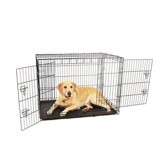 Carlson Double Door Compact Metal Dog Crate