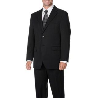 Cianni Cellini Men's Charcoal Wool Gabardine Suit