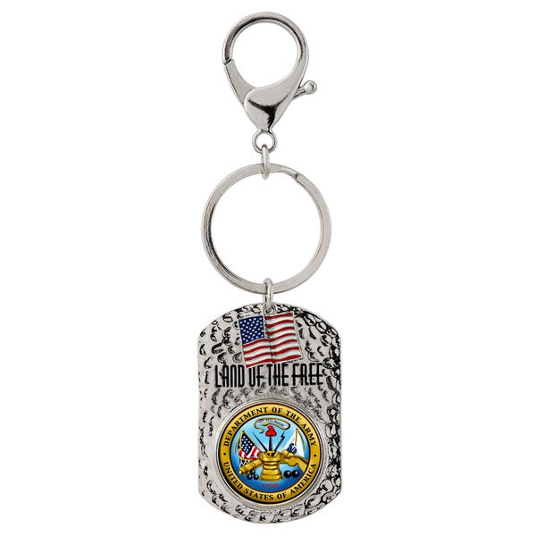 American Coin Treasures Land of the Free Quarter Army Key Chain