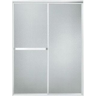Standard 48 in. x 65 in. Framed Bypass Shower Door in Soft Silver