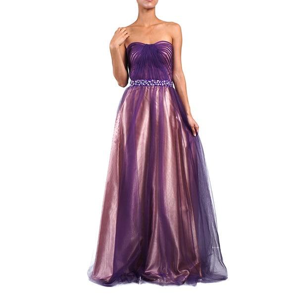 DFI Women's Jewel Waist Evening Gown