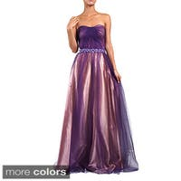 DFI Women's Jewel Waist Evening Gown