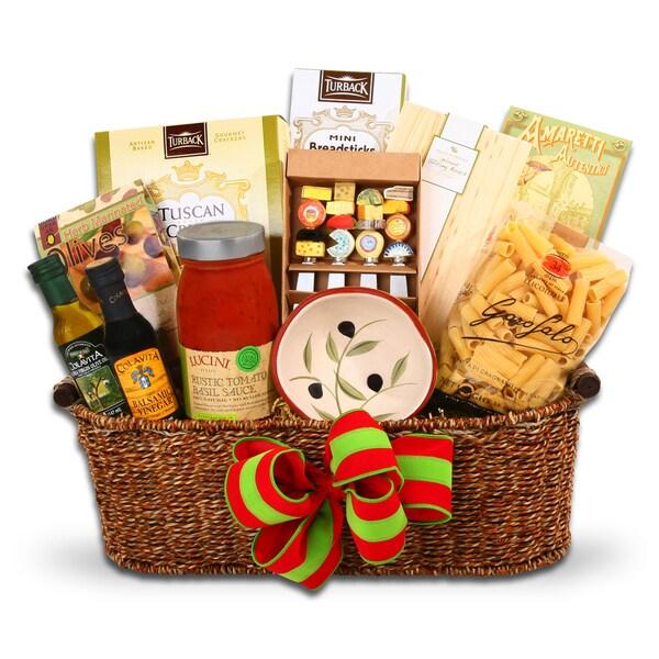 Shop Italian Holiday Gourmet Food Gift Basket - Free ...