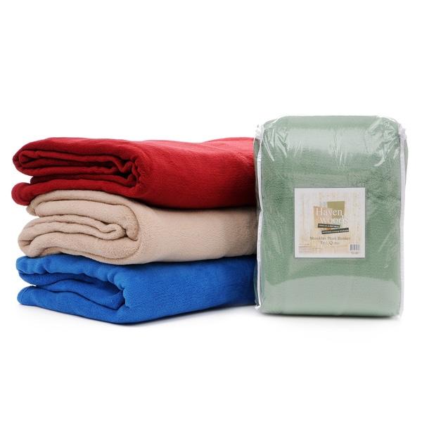 Slumber Shop Havenwood Microfiber Plush Blanket