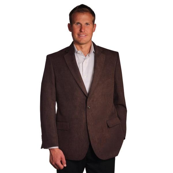 Jean Paul Germain Men's Brown Suede-touch Sport Coat - Free ...