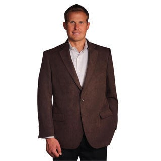 Jean Paul Germain Men's Brown Suede-touch Sport Coat