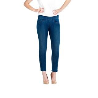 Bluberry Women's Slim-cut Denim Capri Pants