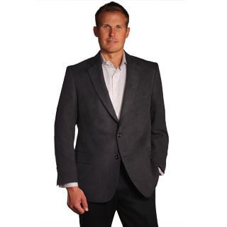 Jean Paul Germain Men's Black Suede-touch Sport Coat - Free ...