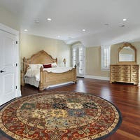 Hand-Tufted Mollie Traditional Border Rug (8' Round)