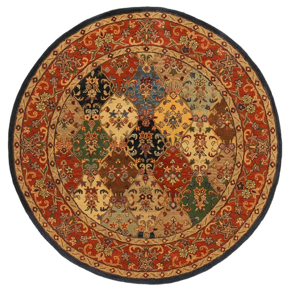 Hand-Tufted Mollie Traditional Border Rug (6' Round) - 6'