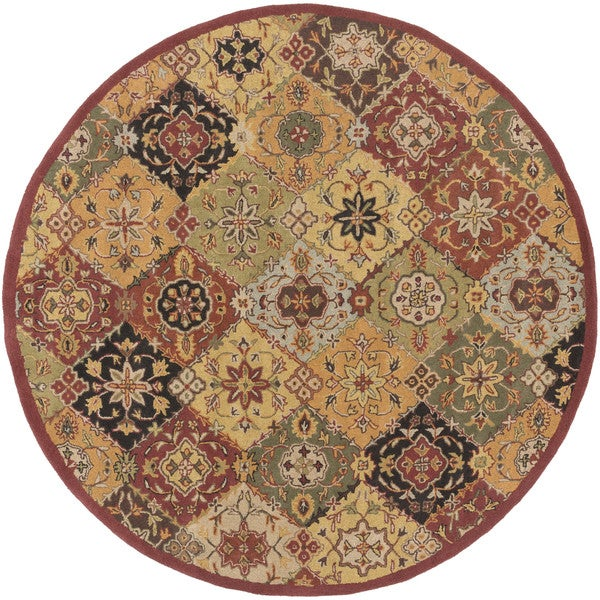 Hand-Tufted Thelma Traditional Border Rug (3'6 Round)