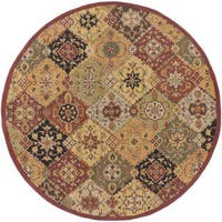 Hand-Tufted Thelma Traditional Border Rug - 3'6