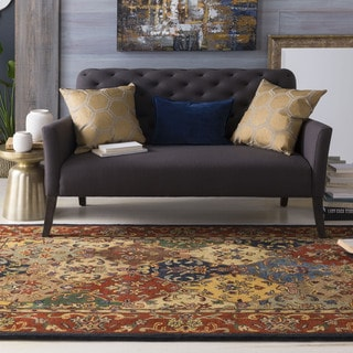 Hand-Tufted Mollie Traditional Border Rug (4' x 6')