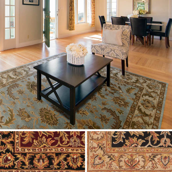 Hand-Tufted Ollie Traditional Border Rug - 6' x 9'