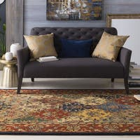 "Hand-Tufted Mollie Traditional Border Rug - 7'6"" x 9'6"""