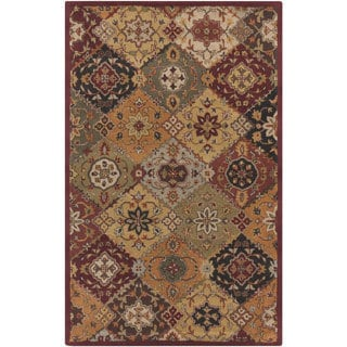 Hand-Tufted Thelma Traditional Border Rug (7'6 x 9'6)
